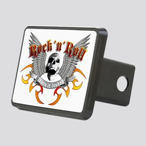 e-guitar rock and roll win Rectangular Hitch Cover